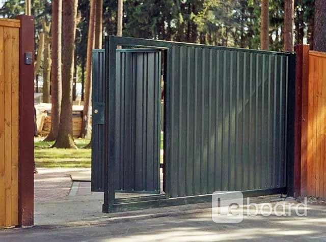 Как сделать откатные ворота с калиткой